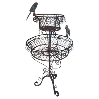 Wrought Iron English Plant Stand