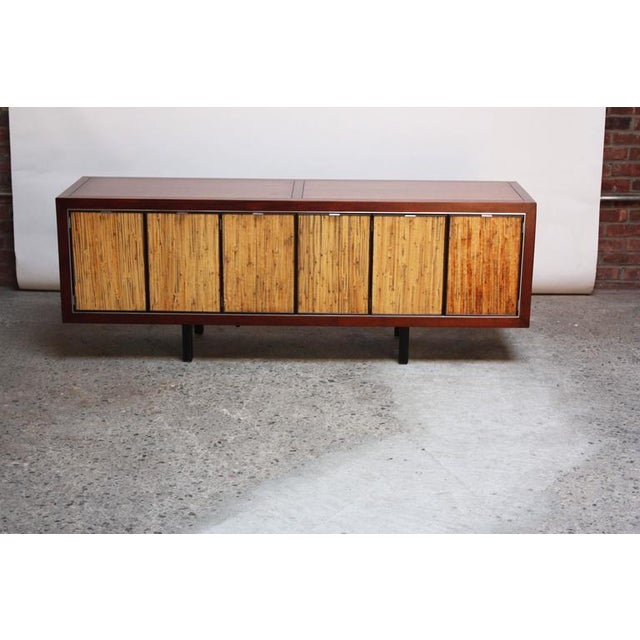 1970s Walnut, Bamboo and Cherry Credenza after Harvey Probber - Image 2 of 10