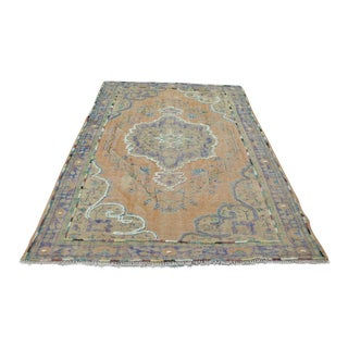 "Antique Turkish Overdyed Pompom Rug - 73"" x 104"""