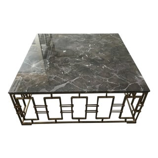 Sarreid Marble Top Cocktail Table
