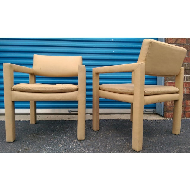 Milo Baughman & Thayer Coggin Parsons Arm Chairs - A Pair - Image 10 of 10