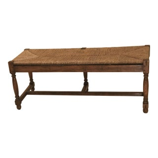 Robert Allen English Country Rush Seat Bench