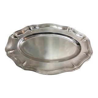 Georgian Silverplate Oval Serving Bowl