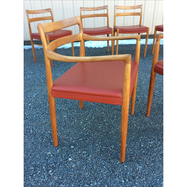 Danish Modern Teak Dining Chairs - Set of 6 - Image 5 of 10