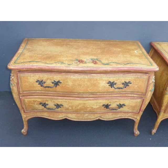 Vintage French Provincial Commode Nightstands - 2 - Image 7 of 11