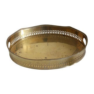 Mottahedeh Detailed Brass Gallery Tray