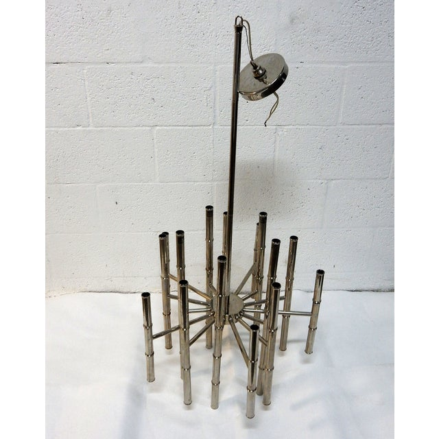 Faux Bamboo Chrome Chandelier - Image 9 of 9