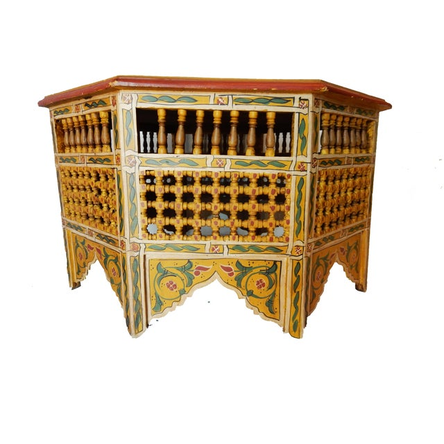 Moroccan 8 Sided Coffee Table - Image 2 of 10