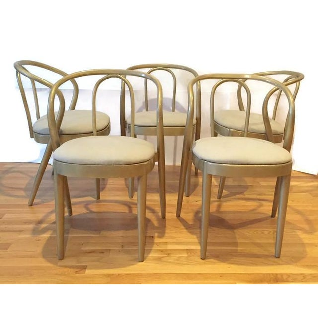 Vintage Modern Bentwood Dining Chairs - Set of 5 - Image 2 of 11