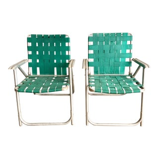 Vintage Aluminum Lawn Chairs - A Pair