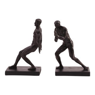 Male Form Bookends - a Pair