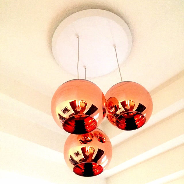 Image of Tom Dixon Copper 25 3 Light Multipoint Pendant