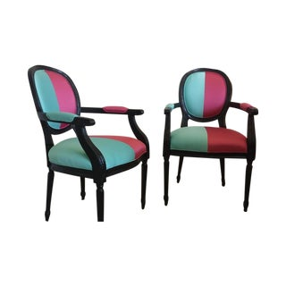 Custom Upholstered Antique Louis XVI Chairs - 2