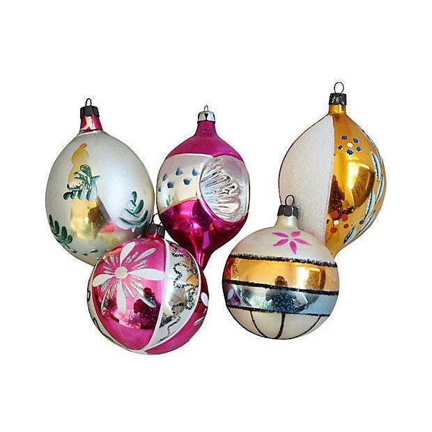 Hand Decorated European Christmas Ornaments w/Box - Set of 12 - Image 5 of 8