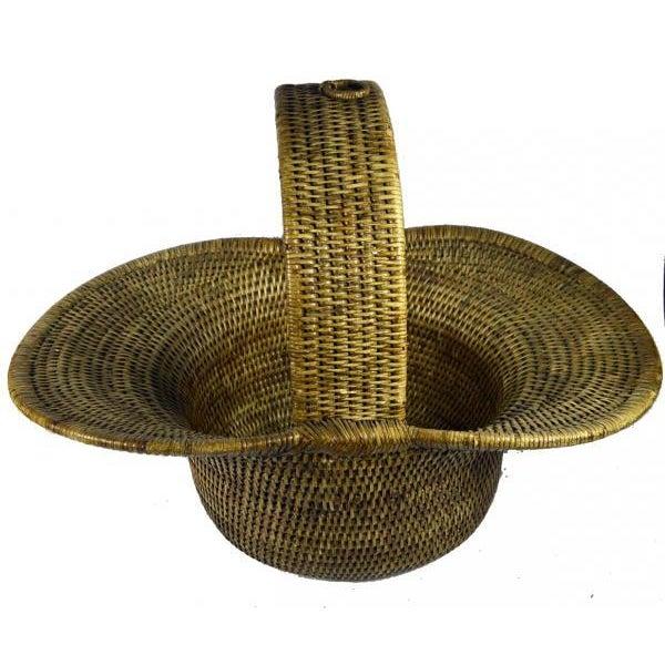 Burmese Hand Woven Hat Basket - Image 2 of 10