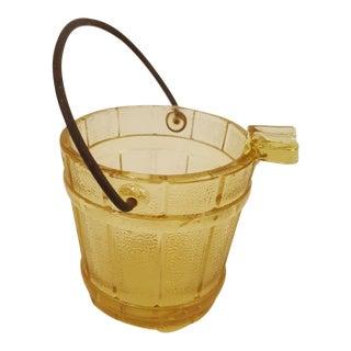 Gold Oak Bucket Shaped Ash Tray