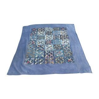 Hand Appliqued Indigo Bed Cover