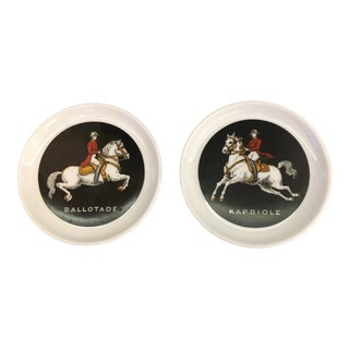German Equestrian China Plates- A Pair
