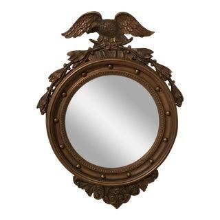 19th Century Convex Bullseye Mirror With Eagle