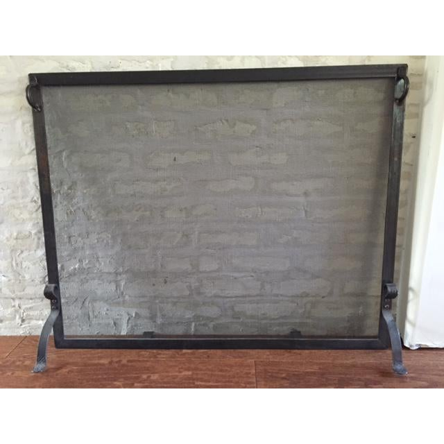 Forged Fireplace Screens : Contemporary hand forged fireplace screen chairish