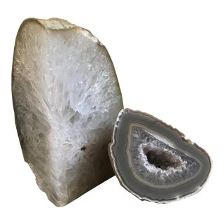 Brazilian Natural Agate Geodes - a Pair