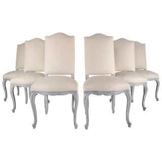 French Antique Louis XV Dining Chairs - Set of 6