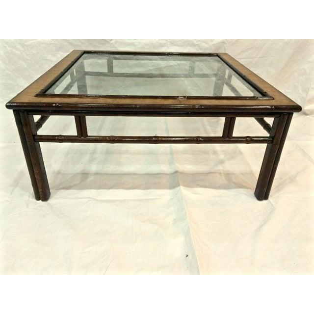 Drexel Oil Drop Bamboo Coffee Table Chairish