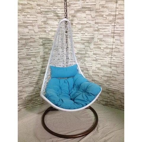 Single Tear Drop Rattan Swing Chair - Image 2 of 6
