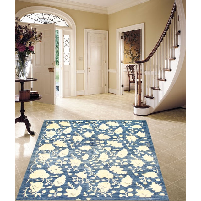 """Hand Knotted Farahan Rug - 4'10"""" X 6'4"""" - Image 2 of 2"""
