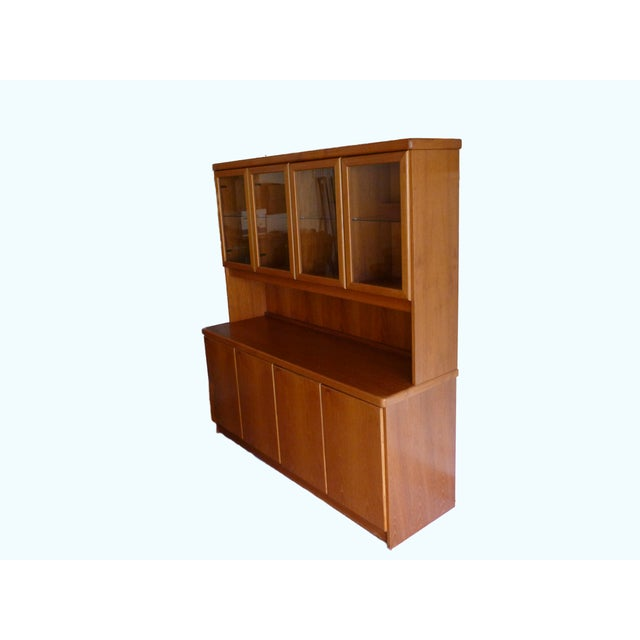 Solid Teak Buffet & Lighted Hutch - Image 2 of 5