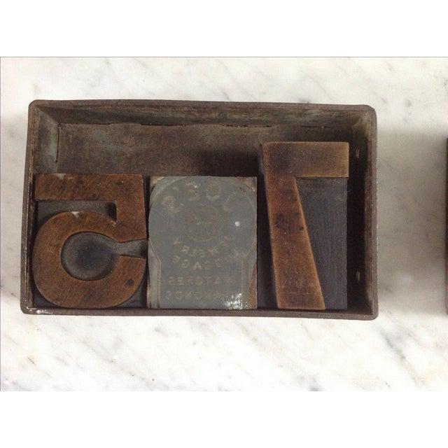 Vintage Industrial Letterpress Blocks - Set of 34 - Image 6 of 8