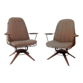 Mid-Century Modern Homecrest Wire Deck Chairs