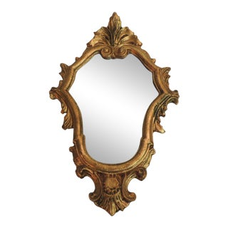 Vintage Florentine Gold Leaf Ornate Mirror