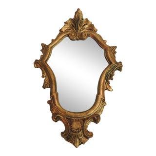 Vintage Florentine Gold Leaf Ornate Mirror