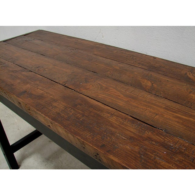 Counter Height Harvest Table : Re-Purposed Barnwood Bar Height Harvest Table Chairish