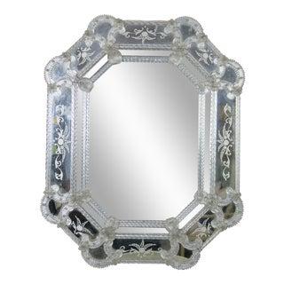 Venetian Etched Octagonal Mirror