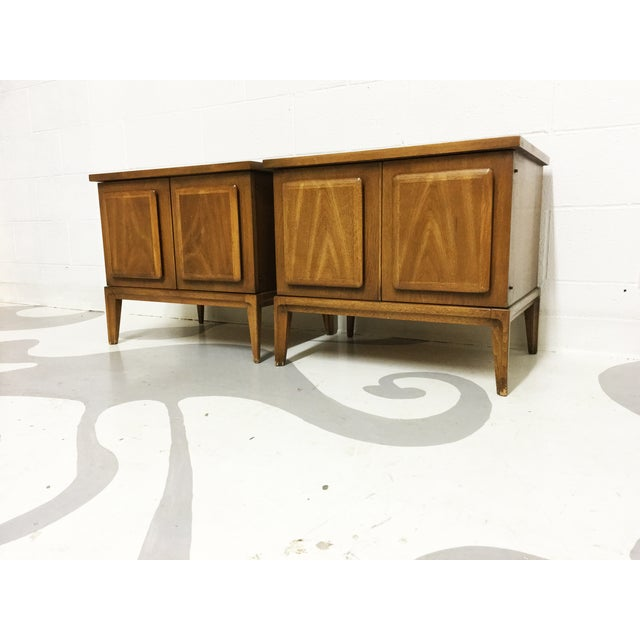Image of Broyhil Mid-Century Walnut End Tables - A Pair