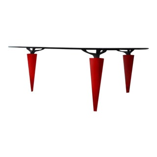 1991 Isao Hosoe for Cassina Italia 'Oskar in Red Leather' Table