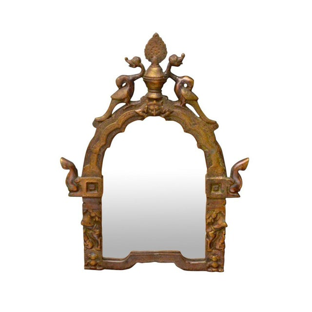 Gilded Brass Temple Mirrors - A Pair - Image 2 of 4