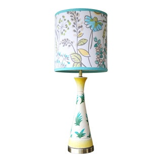 Vintage F.A.I.P. Tropical Chalkware Lamp