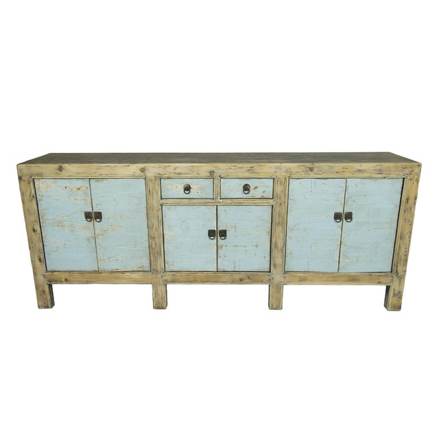 Blue Distressed Sideboard - Image 1 of 3