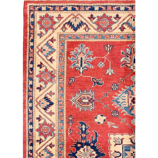 """Image of Red & Ivory Kazak Wool Rug - 4'10"""" X 6'8"""""""