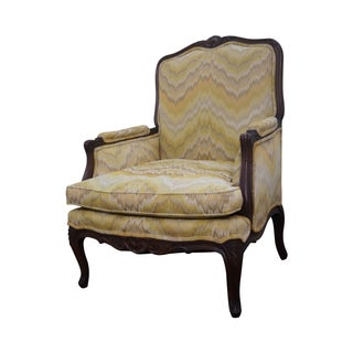 French Louis XV Style Walnut Frame Bergere