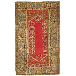 Antique Late 19th Century Turkish Kula Rug