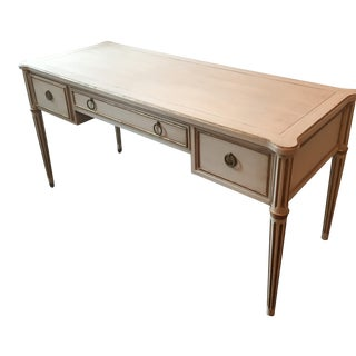 Drexel Scandinavian French Creamy White Drexel Desk With Gilding