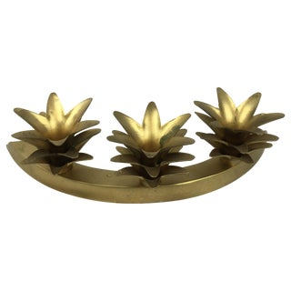 Vintage Brass Pineapple Candleabra