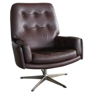 Mid-Century Danish Modern Leather Armchair