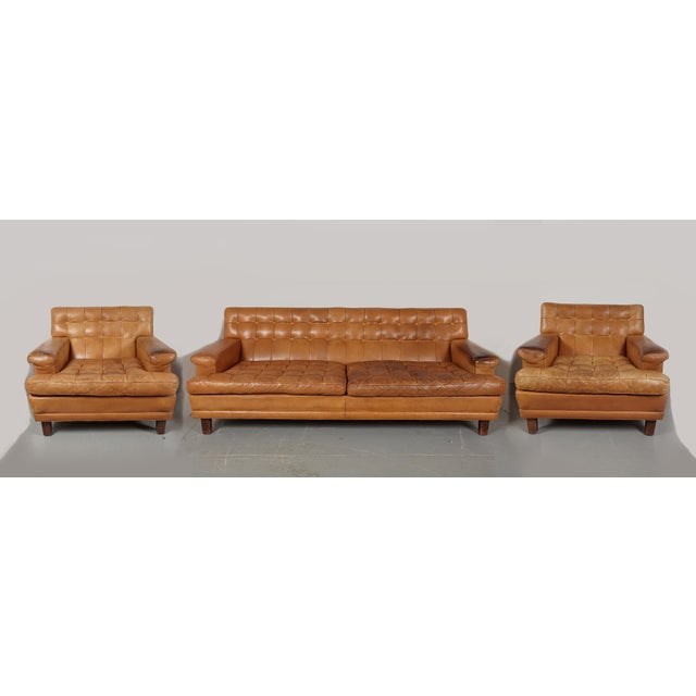 Arne Norell Merkur Sofa & Matching Lounge Chairs - Set of 3 - Image 2 of 9