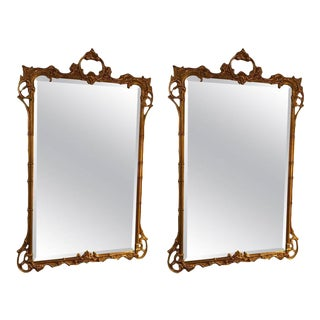 Friedman Bros Chippendale Style Giltwood Mirrors - A Pair