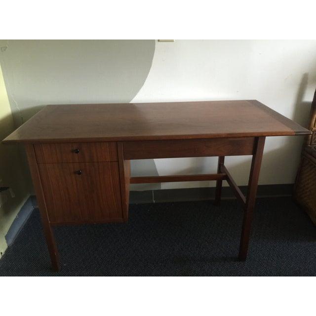 Image of Mid-Century Modern Wooden Desk